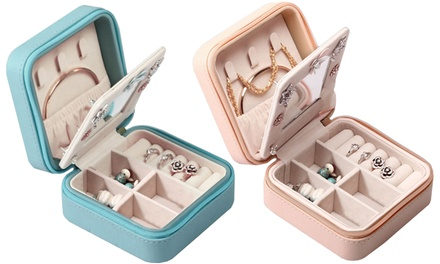Zippered Travel Mini Jewelry Organizer