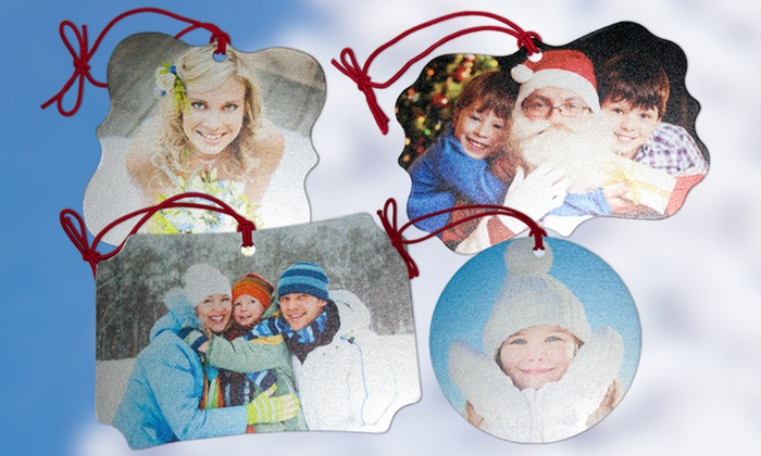 Winkflash: $5 for Four Custom Memento Ornaments from Winkflash($32 value)