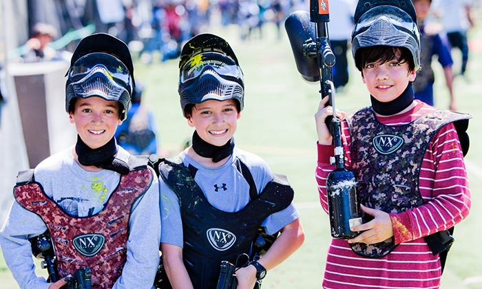 Paintball International - Multiple Locations: All-Day Paintball Package for 4, 6, or 12 from Paintball Tickets (Up to 87% Off)