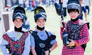 Paintball International: All-Day Paintball Package for 4, 6, or 12 from Paintball Tickets (Up to 82% Off)