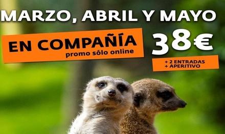 2 entradas a Bioparc Valencia con bebida y tapa hasta el 24 de mayo de 2020 (20% de descuento)