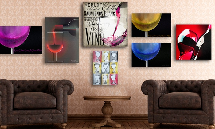 Wineglass Prints on Gallery-Wrapped Canvas: Wineglass Prints on Gallery-Wrapped Canvas. Multiple Styles from $39.99–$44.99. Free Returns.