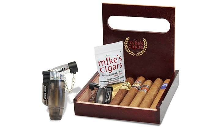 mike s cigars 5 pack gift set groupon goods