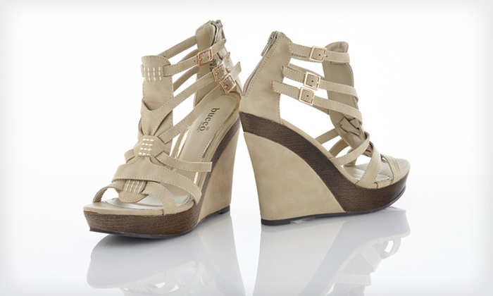 e243223304d Bucco Wedge Sandals