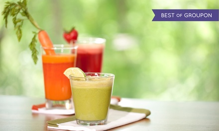 Juice Cleanse Package w/ Free Shipping or Local Pickup at Khepra's Raw Food Juice Bar (Up to 60% Off). Seven Options.