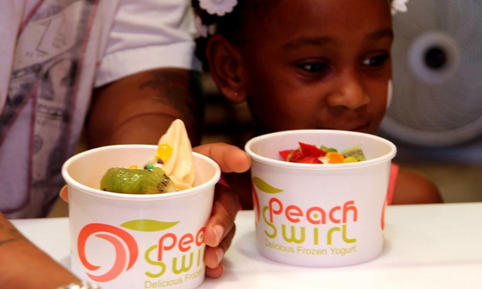 Peach Swirl Frozen Yogurt - Peach Swirl Frozen Yogurt: $12 for 2 Groupons, Each Good for $10 Worth of Fro-Yo at Peach Swirl Frozen Yogurt ($20 Total Value)