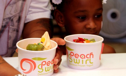 $12 for 2 Groupons, Each Good for $10 Worth of Fro-Yo at Peach Swirl Frozen Yogurt ($20 Total Value)