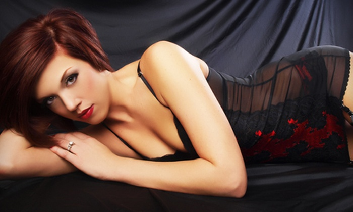 Glamour Shots - East Bloomington: Boudoir Photo-Shoot Package with Airbrush Makeup and Hairstyling or $19 for $100 Worth of Photo Sessions and Portraits