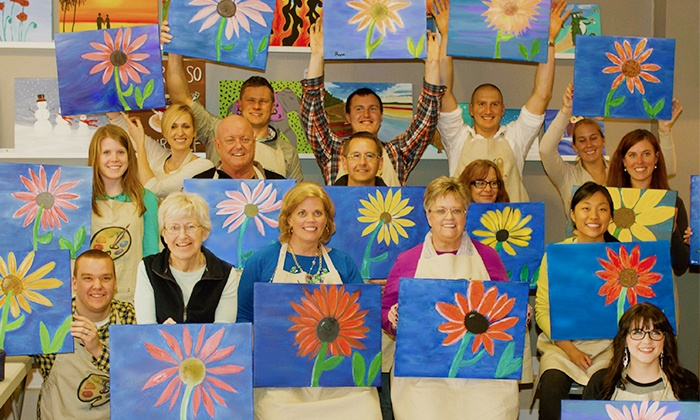 Arts & Carafes Studio - Grand Rapids: $25 for a Social Painting Session from Arts & Carafes Studio ($35 Value)