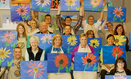 $23 for a Social Painting Session from Arts & Carafes Studio ($35 Value)