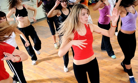 5 or 10 Yoga, Barre, or Zumba Class at Zumbaroom Dance & Fitness (Up to 72% Off)