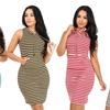 Women's Sleeveless Hoodie Bodycon Dress