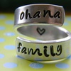 Silver Ohana Family Wrap Ring
