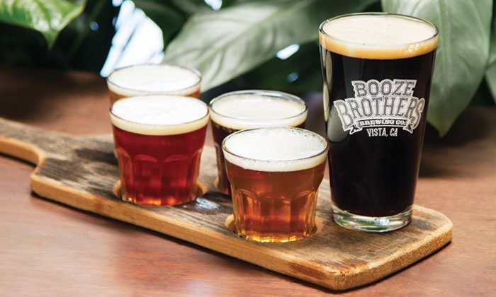 Booze Brothers Brewing Co. - Vista: Beer Tasting for Two or Four at Booze Brothers Brewing Co. (Up to 50% Off)