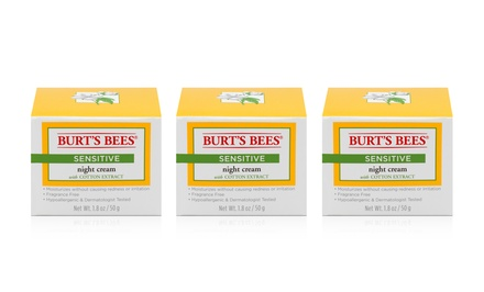 Burt's Bees Sensitive Night Cream; 3-Pack of 1.8oz. Jars + 5% Back in Groupon Bucks