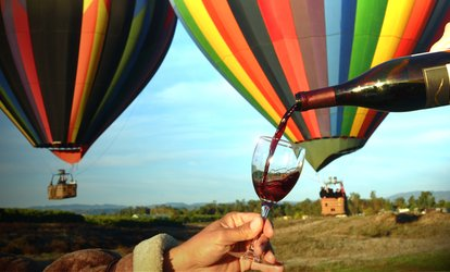 image for $241 for a Sunrise <strong>Balloon</strong> Flight for Two or Four-Hour Winery Tour for Two at Uncorked Tours ($498 Value)