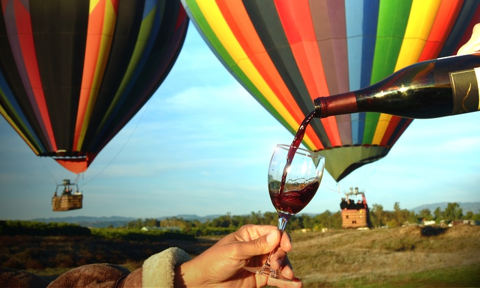 Uncorked Tours - Temecula: $216 for a Sunrise Balloon Flight for Two or Four-Hour Winery Tour for Two at Uncorked Tours ($438 Value)
