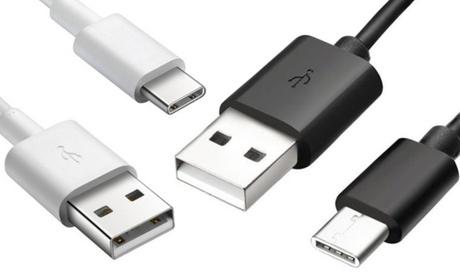 1 ou 2 câbles USB Type C / USB-C compatibles avec smartphones Android, livraison offerte