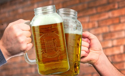 2 or 4 Barbuzzo Mason Jar Beer Steins
