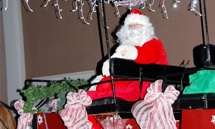 Charleston Carriage Events - Downtown: Holiday CarriageSleigh Ride Tickets for Two or Four from Charleston Carriage Events (50%Off)