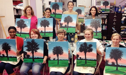 One Paint-A-Long Class for One or Two Adults, or Four Classes for One Adult at Art Smart Academy (Up to 55% Off)