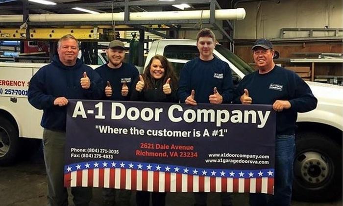 A-1 Door Company - Richmond:  Garage-Door Tune-Up and Keyless-Entry Installation from A-1 Door Company