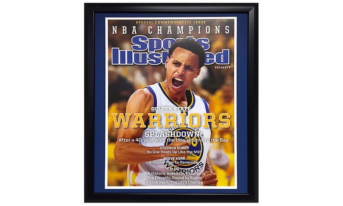 stephen curry 20x24 framed nba champions sports illustrated cover stephen curry 20