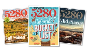 "5280 Magazine: Subscription for 12 or 24 Issues of ""5280"" Magazine (44% Off)"