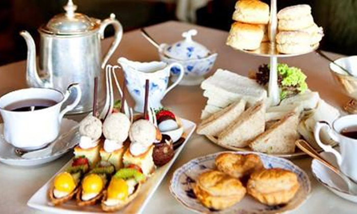 Traditional, Champagne or Prosecco Afternoon Tea for Two or Four at 4* Mere Court Hotel (Up to 47% Off)