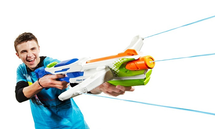 nerf supersoaker pistolet l 39 eau groupon shopping. Black Bedroom Furniture Sets. Home Design Ideas