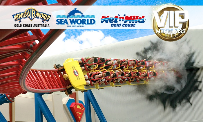 VIP Theme Park Magic Gold Pass - Village Roadshow Theme Parks | Groupon