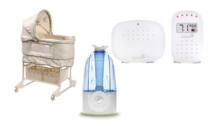 Welcome Home Baby Bundle With Bassinet, Digital Temperature Monitor, And Humidifier. Free Returns.