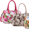 Ruby Blue Couture Layla Floral-Print Satchel