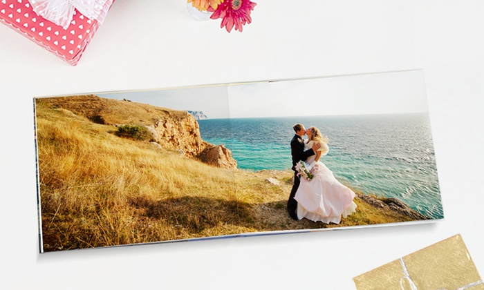 Photobook America: 24-Page Custom Lay Flat Hardcover Photobooks from Photobook America (Up to 86% Off). Five Options Available.