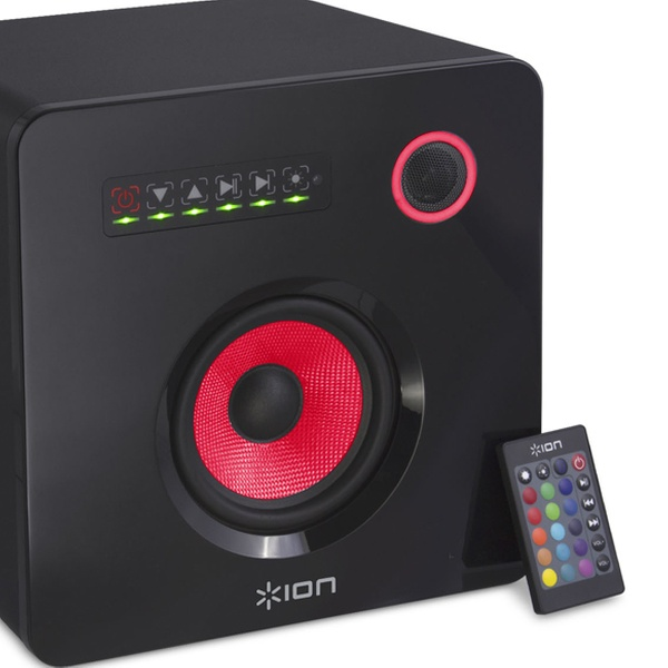 ION Audio Flash Cube Bluetooth Speaker with Multicolored LED Ambient Lighting