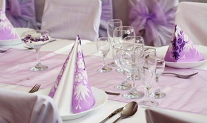 Beautiful Memories Linens & Event Services, LLC: Rental of 100 or 200 Chair Covers and Sashes from Beautiful Memories Linens & Event Services, LLC (45% Off)