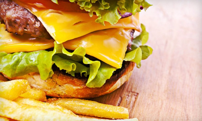 Ron's Hamburgers & Chili - Multiple Locations: Double-Cheeseburger Meals with Fries and Drinks for Two or Four at Ron's Hamburgers & Chili (Up to 54% Off)