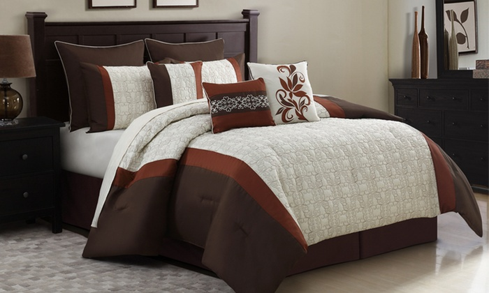9-Piece Embroidered Comforter Sets: 9-Piece Embroidered Comforter Sets. Multiple Styles Available. Free Returns.