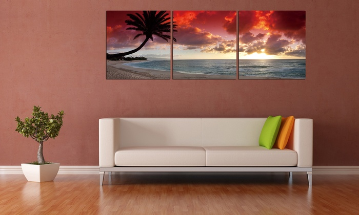 "Vinyl Triptych with Three 20""x20"" Panels: $99.99 for a Vinyl Photograph Triptych ($220 List Price). Multiple Prints Available. Free Shipping and Returns."