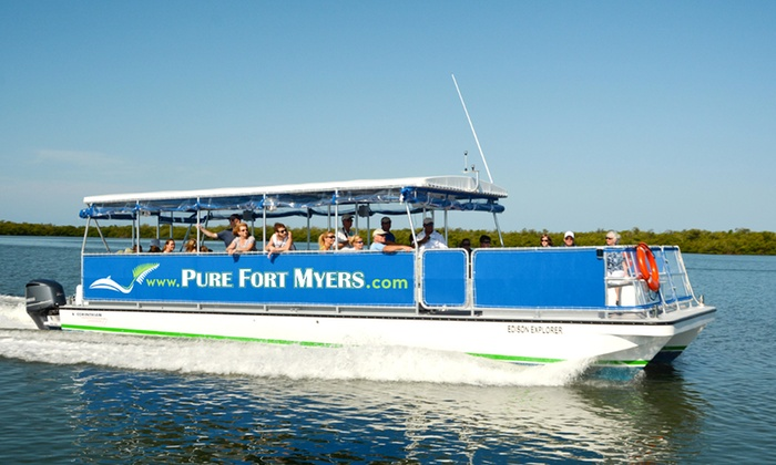 Pure Fort Myers - Ft. Myers River District: $21 for a River Excursion or Sunset Cruise from Pure Fort Myers (Up to $35 Value)
