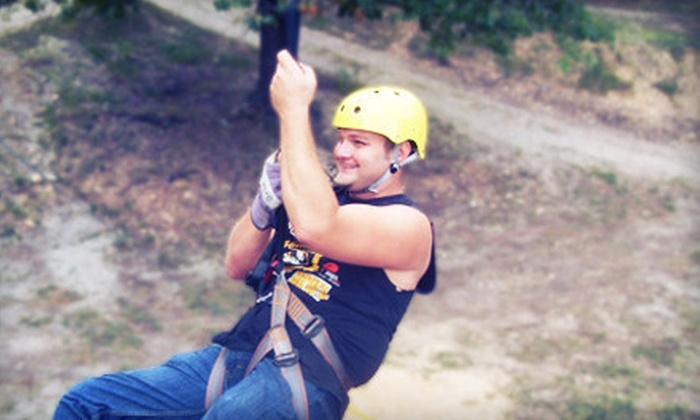 Indian Point Zipline - Indian Point: $35 for a Zipline Adventure Tour for Two from Indian Point Zipline at Deer Run Family Fun Park in Branson ($72 Value)