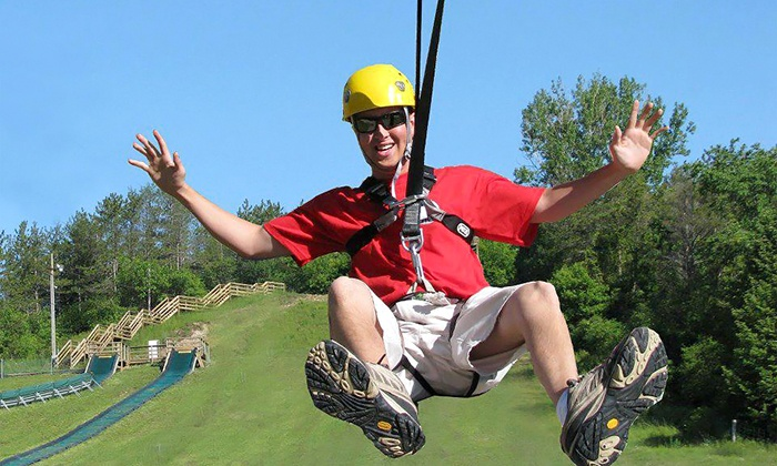 Chicopee Tube Park - Centreville Chicopee: Two Zip Rides for Two or Four or a 2-hour All Access Pass for Two or Four at Chicopee Tube Park (Up to 50% Off)