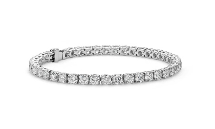 18 CTTW Swarovski Elements Tennis Bracelet in 18K White Gold Plated Brass