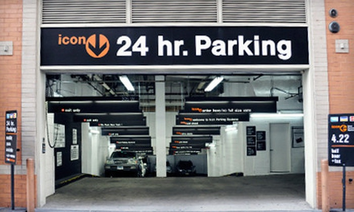 Icon Parking Systems - Multiple Locations: 24-Hour Parking Pass or One Month of Unlimited Parking from Icon Parking Systems (Up to 71% Off). 30 Options Available.