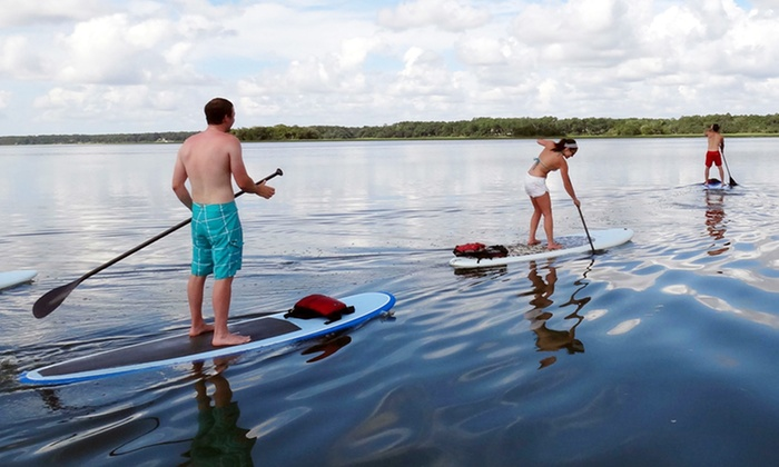 Riding His Waters - Multiple Locations: $30 for a 90-Minute Standup-Paddleboarding Session from Riding His Waters ($60 Value)