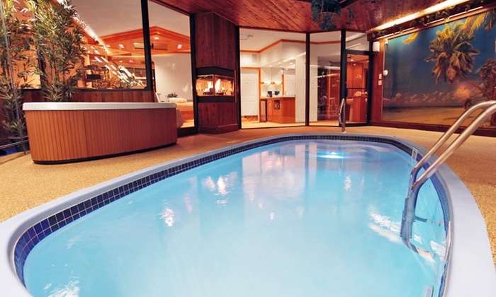 Sybaris Pool Suites Mequon - Mequon, WI: 1-Night Stay for Two in a Country Whirlpool Suite with a Romance Package at Sybaris – Mequon in Greater Milwaukee