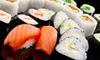 Sushi-Platte mit Sashimi