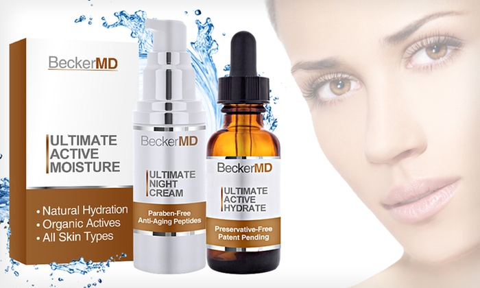 Becker MD Ultimate Active Moisture Pack: $29 for a Becker MD Moisturizing Serum and Night Cream ($120 List Price). Free Shipping.