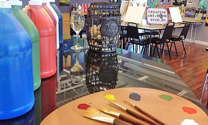 Creative Art & Wine Studio - New Berlin: Painting Class for One or Four at Creative Art & Wine Studio (Up to 44% Off)