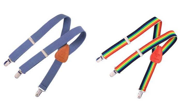 Clips N Grips Children's Adjustable Elastic Y-Back Suspenders: Clips N Grips Children's Adjustable Elastic Y-Back Suspenders